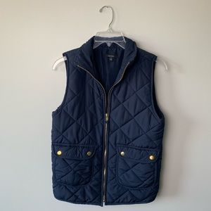 Navy Blue Puffy Vest